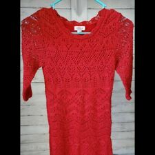 Little Girl's Cat & Jack Dress Red Size M Super Cute / Sparkly
