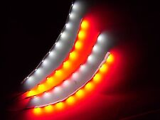 "6"" RC White and Red Underbody LED Strip Lights Superbright FPV Quadcopter 4pc"