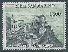 1958 SAN MARINO VEDUTA PANORAMICA 500 LIRE MNH ** - X44