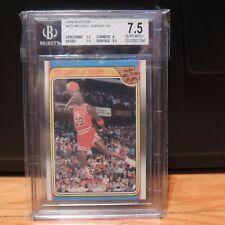1988 Michael Jordan Fleer Card #120 Beckett BGS 7.5 Chicago Bulls 9.5 Surface