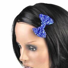 Accessoires de coiffure barrettes bleues en tissu pour femme