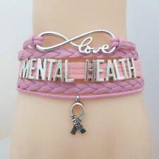 Lovely Friendship Mental Health Awareness  infinity Bracelet. In Organza Gift Ba