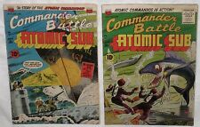 Golden Age Lot/2 COMMANDER BATTLE And The ATOMIC SUB Comics #4, 5  VG