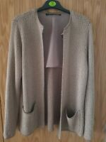 ZARA WOMAN beige/gold knitted smart jacket SIZE M