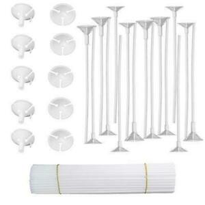 20pcs White Balloon Sticks Holders With Cups For Wedding NEW UK