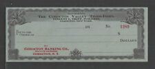 191x THE COHOCTON VALLEY TIMES INDEX COHOCTON BANKING CO NY ANTIQUE CHECK