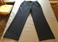 Nic + Zoe navy blue side zip elastic waist pants size 8