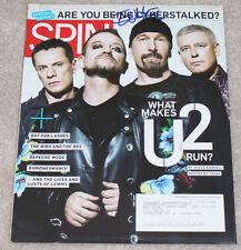 THE EDGE U2 GUITARIST BAND SIGNED AUTHENTIC AUTOGRAPH 'SPIN MAGAZINE' w/COA