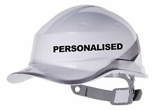 2X PERSONALISED Hard Hat vinyl decal. Warehouse sticker CHOOSE COLOUR AND FONT