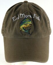 Eat More Fish Save Dolphin Drab Green Strapback Adjustable Cap Hat