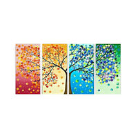 Set of 4pcs Canvas Wall Art Painting Pictures Season Trees Print Hall Decor