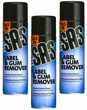 3 x 500ml S.A.S Label Remover Sticker Glue Adhesive Tape Masking Tar SAS58
