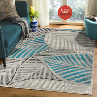 Brand New Soft Leaf Design Hand-Carved Modern Contemporary Area Rug
