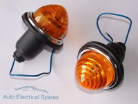 Lucas Type L594 indicator lamp / light amber x 2 ( 1 PAIR ) for AUSTIN Mini
