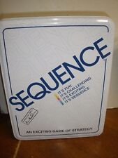 Sequence Strategy Board Game Deluxe Tin Factory Pieces Sealed 1995