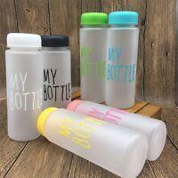 Matte Clear My Bottle Sport Fruit Juice Water Cup 500ML Portable Travel Bottle