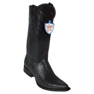 Men's Wild West Genuine Teju Lizard Snip Toe Western Boots