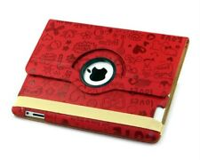 iPad 2 3 4 360 Degree Rotation Swivel Case - Magic Girl Case in Red