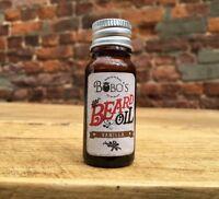 BOBOS BEARD COMPANY 10ml VANILLA BEARD OIL. HELPS THE BEARD GROW,SOFTENS,REPAIRS