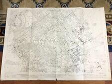 Antique Map Hampshire Fleet Aldershot Gally Hill Tweseldown 1940