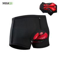 Mens Cycling Shorts Pads MTB Road Bike Underwear Black 3D Gel Padded Short Pants
