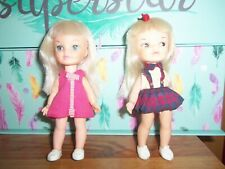 "Lot of Two Remco Heidi Dolls approx 5.5""  1960's"