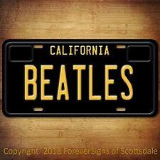 The Beatles Rock Band California Aluminum Vanity License Plate Black
