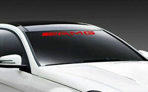 AMG Mercedes Benz C55 E55 CLS63 Racing Windshield Decal sticker emblem logo RED