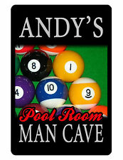 Personalized MAN CAVE Sign Printed with YOUR NAME Custom Sign Pool Room Sign 054