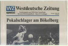DFB-Pokal 86/87 B. Mönchengladbach - Bayer Uerdingen WZ