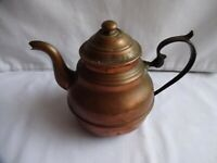 ANTIQUE SMALL COPPER TEAPOT HEIGHT 11 cm x 16 cm