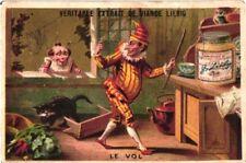 6 litho trade cards c1884 LIEBIG's 137 compl set VOL Theft clown harlequin judge