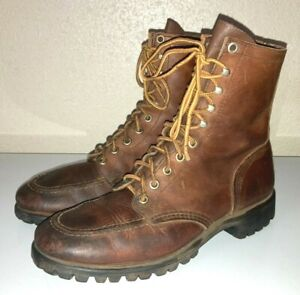 Red Wing Vintage Trail Hiking Boots Womens 8 Brown Leather