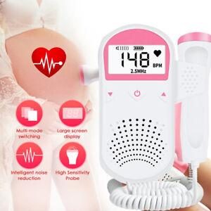 Fetal Doppler Monitor No Radiation Pregnant Stethoscope home Heart Rate Meter