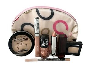 Maybelline Gift Set Make Up Bag Gifts for Her 7pc Set Cosmetics Set Nudes