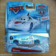 Disney PIXAR Cars ICE RACERS SHU TODOROKI #7 diecast SPECIAL ICY EDITION! Moscow
