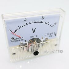 Us Stock Analog Panel Volt Voltage Meter Voltmeter Gauge 85C1 0-30V Dc