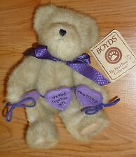 "Boyds Bear BETTY B. SISBEAR w/Tag ""Sisters are tied together with Heartstrings"""