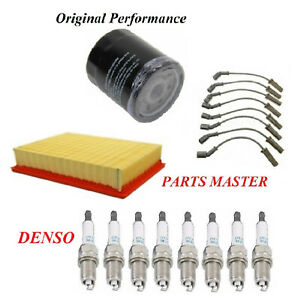 Tune Up Kit Air Oil Filters Spark Plugs Wire For GMC SIERRA 1500 HD V8 6.0L 2006