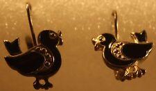Costume Black ducky earings