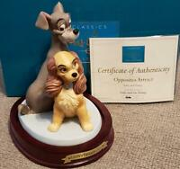 """Opposites Attract"" Walt Disney's Lady & the Tramp WDCC Original Box COA #/4000"