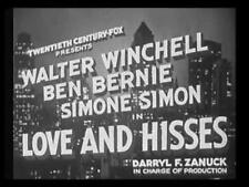 LOVE AND HISSES (1937) DVD WALTER WINCHELL, BEN BERNIE