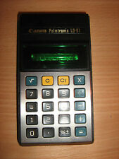 Canon Palmtronic LD-81 Vintage Japan calculator with VFD display .