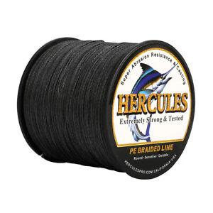 Hercules 6lb-100lb 4 Strands PE Braided Super Fishing line 100M 109Yds Saltwater