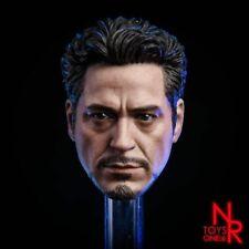In magazzino 1//6 SCALA IRON MAN 3 Tony Stark TESTA SCOLPIRE HW//O collo per 12in Figura