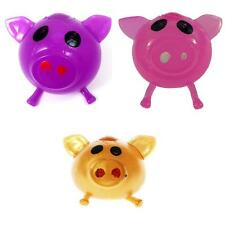 Splat Ball Novelty Squishy Toy Gold, Purple, and Pink Colors Pig (Pack of 3)