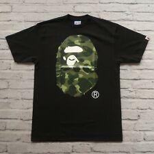 New Bape A Bathing APE Camo Tshirt Size L Big Ape Head Black