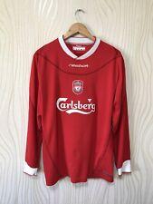 LIVERPOOL 2002 2003 2004 HOME FOOTBALL SHIRT SOCCER JERSEY LONG SLEEVE REEBOK