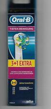 4 Oral-B Tiefenreinigung Aufsteckbürsten Ersatzbürsten 3+ 1 Extra