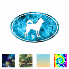 Canaan Oval Dog - Vinyl Decal Sticker - Multiple Patterns & Sizes - ebn3645